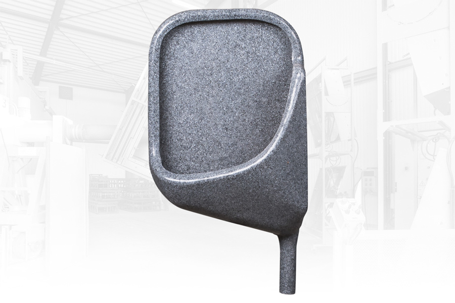 GLOBAL Standardurinal für mobile Toiletten frontal